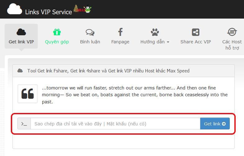 Hướng Dẫn GetLink Donwload File Cực Nhanh Get link VIP tại Links VIP Service 1